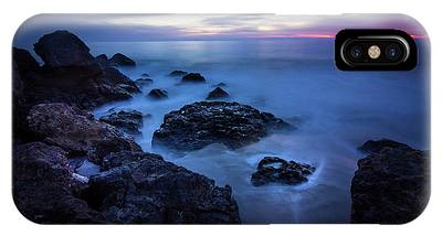 IPhone Case featuring the photograph Point Dume Rock Formations by Andy Konieczny