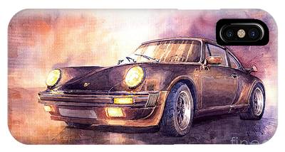 Car Paintings iPhone Cases