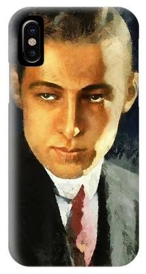 Portrait Of Rudolph Valentino IPhone Case