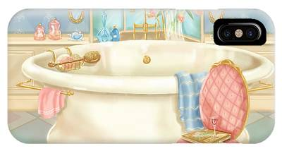 Pretty Bathrooms II IPhone Case
