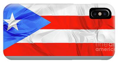 IPhone Case featuring the photograph Puerto Rico Flag by Benny Marty