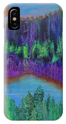 IPhone Case featuring the painting Purple Gorge by Kim Nelson