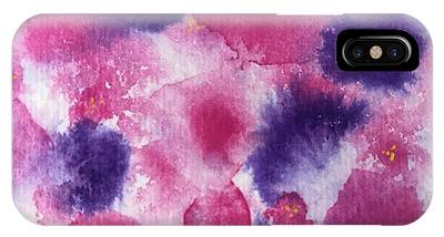 IPhone Case featuring the painting Purple Rain by Kim Nelson
