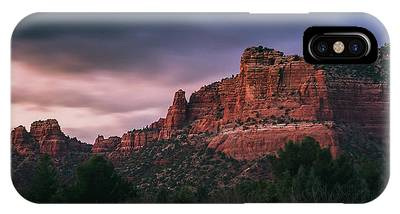 IPhone Case featuring the photograph Red Rock Formations Long Exposure by Andy Konieczny