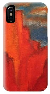 IPhone Case featuring the painting Red Rocks by Kim Nelson