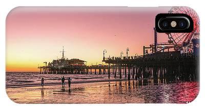 Red Sunset In Santa Monica IPhone Case