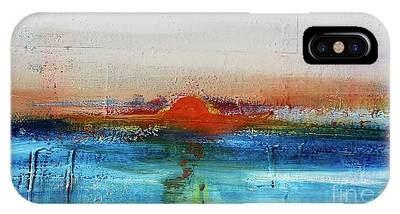 IPhone Case featuring the painting Red Sunset by Kim Nelson