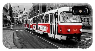 Prague - Red Tram IPhone Case