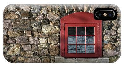 IPhone Case featuring the photograph Red Window by Brad Wenskoski