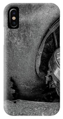 Resting Headlight Of Rusty Car IPhone Case by Dennis Dame