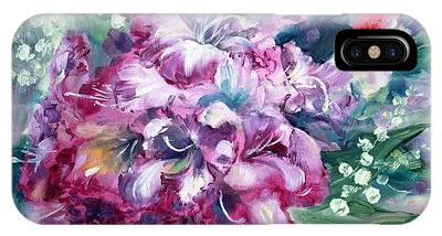 Rhododendron And Lily Of The Valley IPhone Case