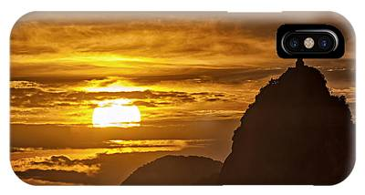 IPhone Case featuring the photograph Rio De Janeiro Christ Statue by Juergen Held