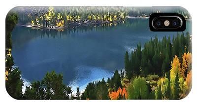 Rock Creek Lake In Fall IPhone Case