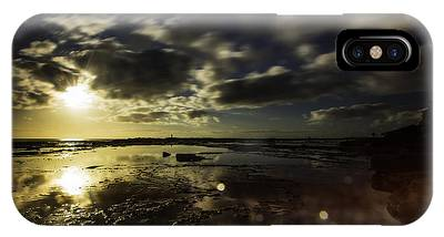 IPhone Case featuring the photograph Rock Pool Sunrise by Chris Cousins