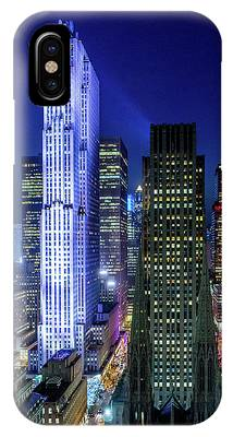 Rockefeller At Night IPhone Case