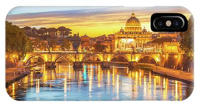 IPhone Case featuring the photograph Rome At Twilight by Benny Marty