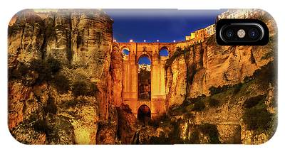 IPhone Case featuring the photograph Ronda By Night by Benny Marty