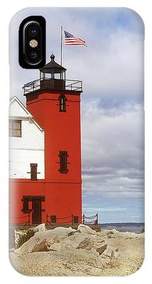 Round Island Lighthouse IPhone Case by Sally Sperry