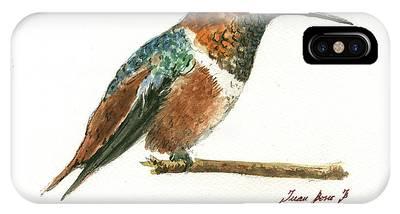 Rufous Hummingbird Phone Cases