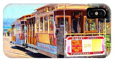 San Francisco Cablecar At Fishermans Wharf . 7d14097 IPhone Case