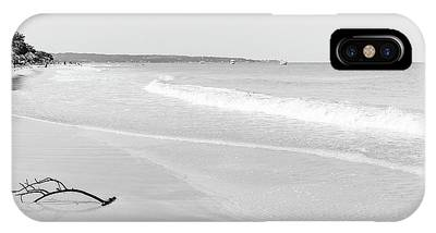 Sand Meets The Sea In Black And White IPhone Case