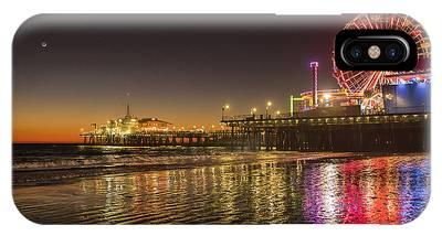 Santa Monica Pier After Sunset IPhone Case