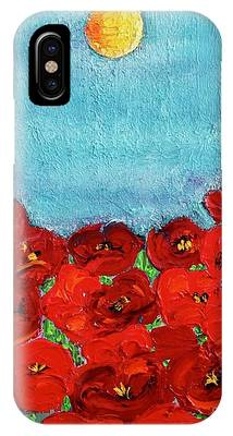 IPhone Case featuring the painting Sarah's Poppies by Kim Nelson