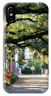 Savannah Park Sidewalk IPhone Case