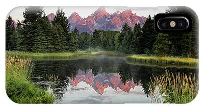 IPhone Case featuring the photograph Schwabacher Landing Sunrise by Ronnie and Frances Howard