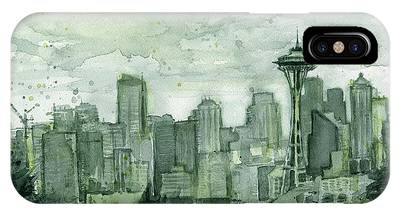 Seattle Skyline iPhone Cases