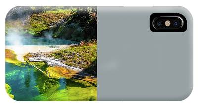 IPhone Case featuring the photograph Seismograph Pool In Yellowstone by Benny Marty