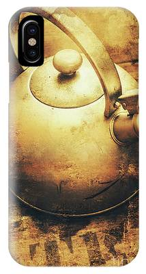 IPhone Case featuring the photograph Sepia Toned Old Vintage Domed Kettle by Jorgo Photography - Wall Art Gallery