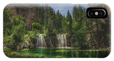 IPhone Case featuring the photograph Serene Hanging Lake Waterfalls by Andy Konieczny