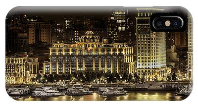 IPhone Case featuring the photograph Shanghai Nights by Chris Cousins