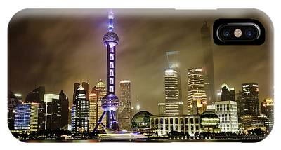 IPhone Case featuring the photograph Shanghai Skyline by Chris Cousins