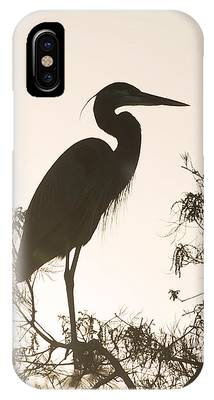 IPhone Case featuring the photograph Silhouette In The Sunset by Sally Sperry
