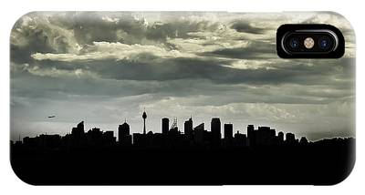 IPhone Case featuring the photograph Silhouette Of Sydney by Chris Cousins
