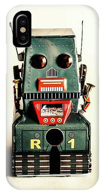 IPhone Case featuring the photograph Simple Robot From 1960 by Jorgo Photography - Wall Art Gallery