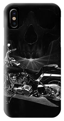 Harley Davidson Black And White Phone Cases