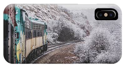 IPhone Case featuring the photograph Snowy Verde Canyon Railroad by Andy Konieczny
