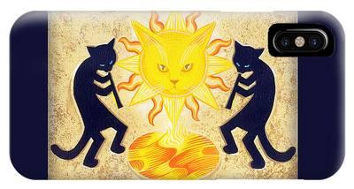 Solar Feline Entity IPhone Case