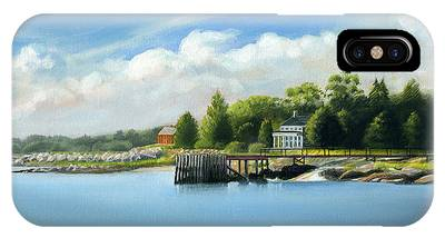 Southport Harbor IPhone Case