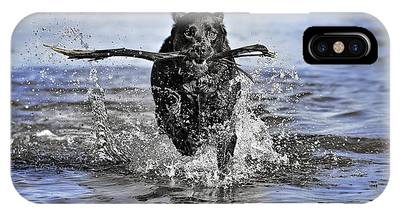 IPhone Case featuring the photograph Splashing Fun by Chris Cousins