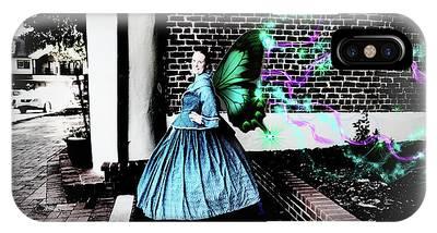 Spooky Historic Butterfly Dahlonega  IPhone Case