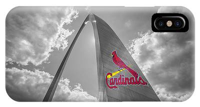 St. Louis Cardinals Busch Stadium Gateway Arch 1 IPhone Case