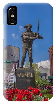 St. Louis Cardinals Busch Stadium Stan Musial Roses IPhone Case