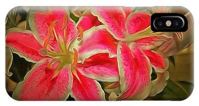 Star Gazer Lilies IPhone Case