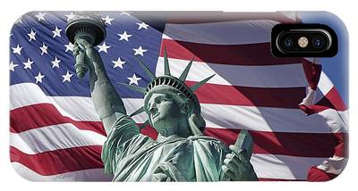 IPhone Case featuring the photograph Statue Of Liberty New York  by Juergen Held