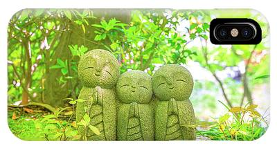 IPhone Case featuring the photograph Statues Of Jizo by Benny Marty