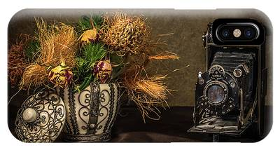 Still Life With Flowers And Camera IPhone Case